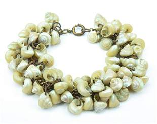 Vintage Early Miriam Haskell Shell Bracelet