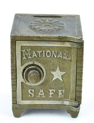 Antique 19th C Cast Iron Toy Piggy Bank