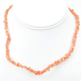 Vintage Natural Coral Bead Necklace Strand
