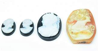 Collection Of Antique Shell  Hardstone Cameos