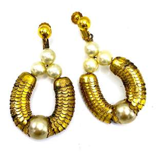 Vintage Costume Earrings Style of Haskell