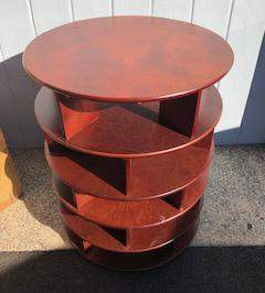 Mid C Modern Round Open Shelf Side Table