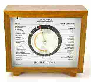 Vintage Lord King 24 Hour World Time Clock