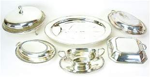 Collection Silver Plate Covered Serving Dishes