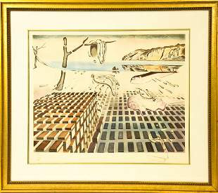 "Framed Dali ""The Disintegration"" Signed Lithograph"