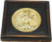 Carved Marble Maquette A Hoen & Co Lithographers