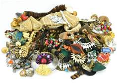 Large Collection of Vintage Costume Jewelry Pieces