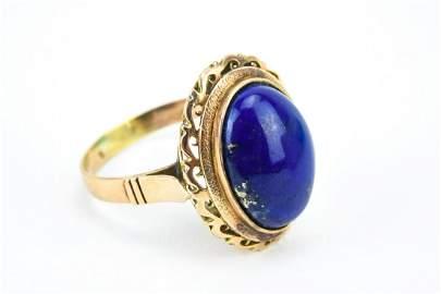 Estate 14kt Yellow Gold & Lapis Lazuli Ring