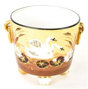 Antique 19th C Old Paris Porcelain Cache Pot