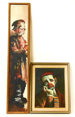 Dianne Dengel Clown & Sailor Portrait Paintings