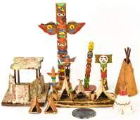 Antique & Vintage Native American Miniature Items