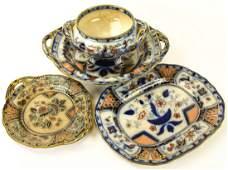 Antique Imari Ironstone Porcelain Serving Plates