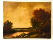 Romantic Paul Wesley Oil Canvas Nature Landscape