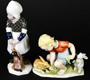 2 Antique Rosenthal Porcelain Figurines