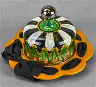 MacKenzie-Childs Hand Painted Lidded Platter