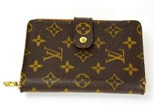 Vintage Louis Vuitton Zipper Folder Style Wallet