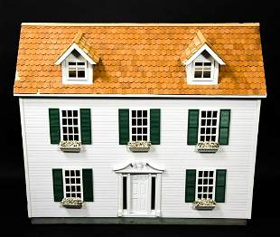 Contemporary White Doll House