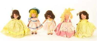 Vintage Nancy Ann Storybook Bisque Dolls