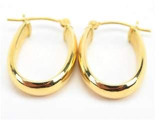 Estate Pair of 14kt Yellow Gold Hoop Earrings