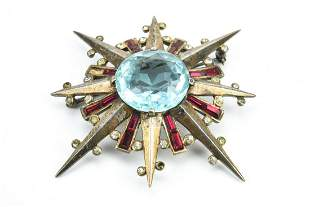 Alfred Philippe Trifari Sterling Paste Star Brooch