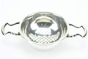 Cartier Sterling Silver Tray Strainer w Handles