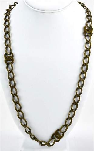 Circa 1997 Chanel Logo Necklace or Belt