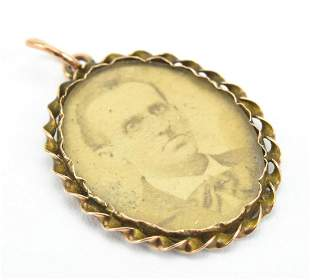 Antique 19th C 14kt Gold Mourning Pendant