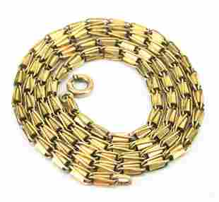 Antique 10kt Yellow Gold Fancy Link Necklace Chain