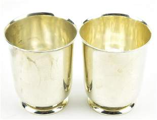 Pair Of Wallace Sterling Silver Cups