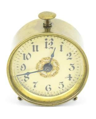 Antique Miniature Ormolu Alarm Clock