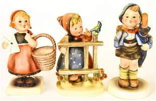 3 Vintage Goebel Hummel Figurines Signs of Spring