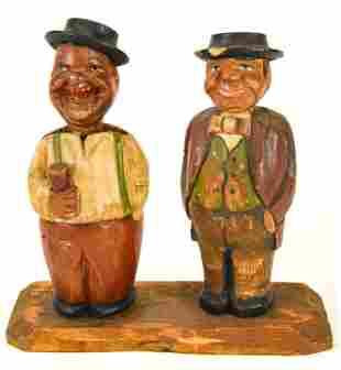 Antique German Black Forest Carved Figural Barware