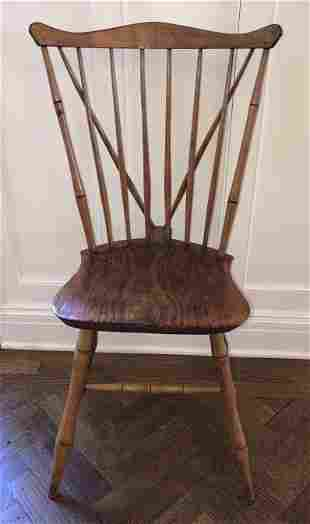 Antique 18th C American Carved Windsor Side Chair