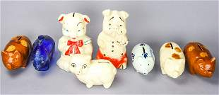 Collection 8 Vintage Ceramic Piggy Banks