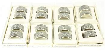 Set Villeroy & Boch Porcelain Marble Napkin Rings