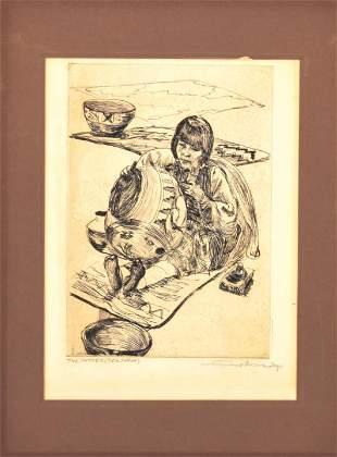 Mortimer Borne The Potter (Sea Shell) Engraving