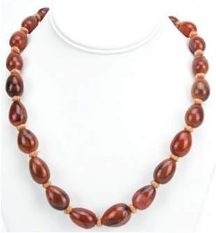 Estate Antique Agate & Carnelian Beaded Necklace