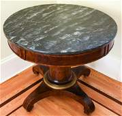 Antique C 1820s American Boston Marble Top Table