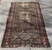 Antique Turkish Hand Knotted Wool Throw Rug