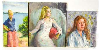 Butterfield Mid C Portrait Paintings Young Women