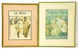 2 Antique Early 20th C. Journal / Magazine Covers
