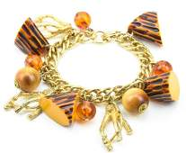 Vintage Charm Bracelet W Bakelite