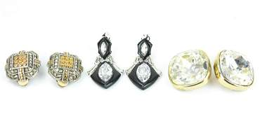 Collection Costume Jewelry Clip on Earrings
