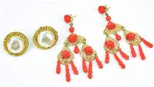 Vintage Miriam Haskell Faux Pearl Earrings