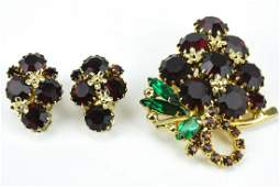 Vintage Costume Jewelry Demi Parure by Weiss