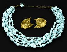 Vintage Miriam Haskell Necklace & Earrings
