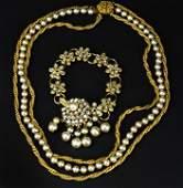 Vintage Miriam Haskell Necklace and Bracelet Set