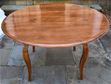 Custom Made Solid Cherry Wood Round Dining Table