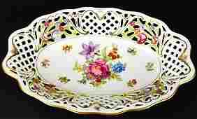 Oscar de la Renta German Porcelain Floral Tray