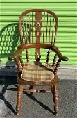 Jacobean Style English High Back Windsor Armchair
